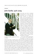 John Saville, 1916–2009