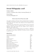 Annual Bibliography: 2008