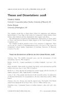Theses and Dissertations: 2008