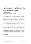 Classic Third Way or Before its Time? The New Zealand Labour Party in Local and Transnational Context