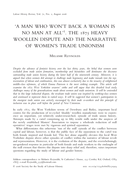 'A Man Who Won't Back a Woman is No Man at All'. The 1875 Heavy Woollen Dispute and the Narrative of Women's Trade Unionism