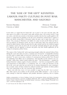 The 'Rise of the Left' Revisited: Labour Party Culture in Post-war Manchester and Salford