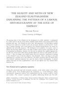 'The Reality and Myth of New Zealand Egalitarianism: Explaining the Pattern of a Labour Historiography at the Edge Of Empires'