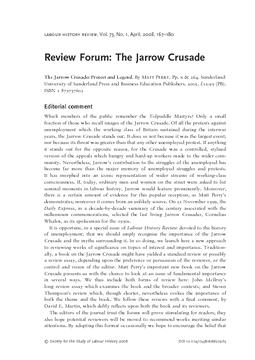 Review Forum: The Jarrow Crusade