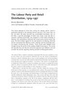 The Labour Party and Retail Distribution, 1919–1951