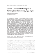 Gender, Leisure and Marriage in a Working-Class Community, 1939–1960
