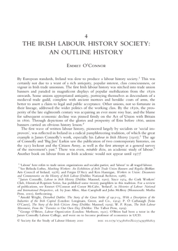 The Irish Labour History Society: An Outline History
