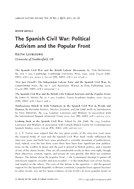 The Spanish Civil War: Political Activism and the Popular Front