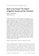 Back to the Future? The Potters' Emigration Society and the Historians