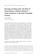 Dancing and Days Out: The Role of Social Events in British Women's Trade Unionism in the Early Twentieth Century