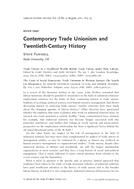 Contemporary Trade Unionism and Twentieth-Century History