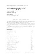 Annual Bibliography: 2010