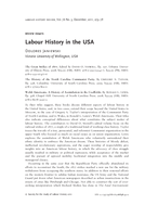Labour History in the USA