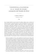 Características y circunstancias en un 'estudio de virtudes': a propósito del Notable de Amor