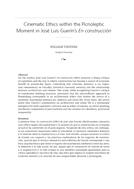 Cinematic Ethics within the Picnoleptic Moment in José Luis Guerín's En construcción