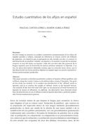 Estudio cuantitativo de los afijos en español