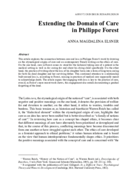 Extending the Domain of Care in Philippe Forest