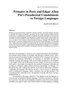 Primates in Paris and Edgar Allan Poe's Paradoxical Commitment to Foreign Languages