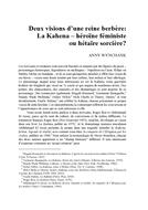 Deux visions d'une reine berbère: La Kahena – héroïne féministe ou hétaïre sorcière?