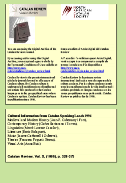 CULTURAL INFORMATION FROM CATALAN SPEAKING LANDS 1996