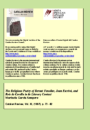 THE RELIGIOUS POETRY OF BERNAT FENOLLAR, JOAN ESCRIVÀ, AND ROÍS DE CORELLA IN ITS LITERARY CONTEXT1