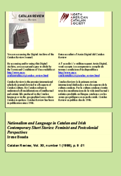 NATIONALISM AND LANGUAGE IN CATALAN AND IRISH CONTEMPORARY SHORT STORIES: FEMINIST AND POSTCOLONIAL PERSPECTIVES