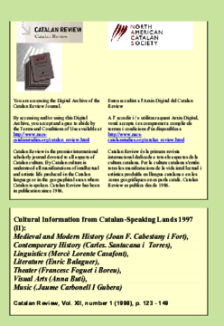 CULTURAL INFORMATION FROM CATALAN-SPEAKING LANDS 1997 (II)