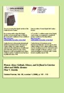 WOMEN ALONE: SOLITUDE, SILENCE, AND SELFHOOD IN CATERINA ALBERT AND SIBILLA ALERAMO