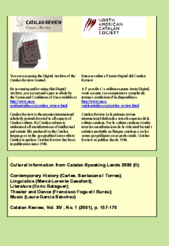 CULTURAL INFORMATION FROM CATALAN-SPEAKING LANDS 2000 (II)