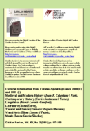 CULTURAL INFORMATION FROM CATALAN-SPEAKING LANDS 2000 (II) AND 2001 (I)