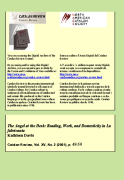THE ANGEL AT THE DESK: READING, WORK, AND DOMESTICITY IN LA FABRICANTA
