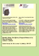 DAEDALUS'S WINGS: THE EFFECTS OF TEMPORAL DISTANCE IN LA PLAÇA DEL DIAMANT
