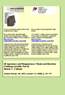OF APPEARANCE AND DISAPPEARANCE: THEATRE AND BARCELONA (CATALUNYA INVISIBLE, PART II)