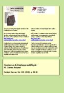 CONVIURE EN LA CATALUNYA MULTILINGÜE