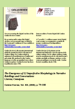 THE EMERGENCE OF L2 IMPERFECTIVE MORPHOLOGY IN NARRATIVE RETELLINGS AND CONVERSATIONS