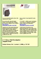 J. V. FOIX OR TOTAL INVESTIGATION