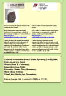CULTURAL INFORMATION FROM CATALAN SPEAKING LANDS