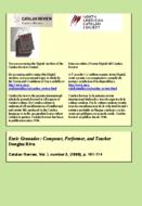 ENRIC GRANADOS: COMPOSER, PERFORMER, AND TEACHER