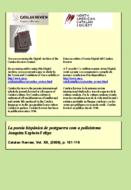 LA POESIA HISPÀNICA DE POSTGUERRA COM A POLISISTEMA