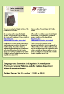 LANGUAGE-USE EXTENSION IN LINGUISTIC NORMALIZATION PROCESSES: GENERAL PATTERNS AND THE CATALAN EXPERIENCE
