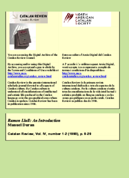 RAMON LLULL: AN INTRODUCTION