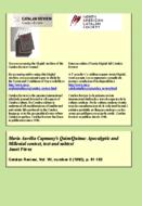 MARIA AURÈLIA CAPMANY'S QUIM/QUIMA: APOCALYPTIC AND MILLENIAL CONTEXT, TEXT AND SUBTEXT