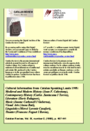 CULTURAL INFORMATION FROM CATALAN SPEAKING LANDS 1995