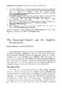 The Episcopal Church and the Anglican Communion