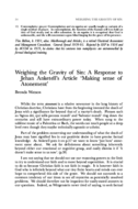 Weighing the Gravity of Sin: A Response to Jehan Anketell's Article 'Making sense of Atonement'