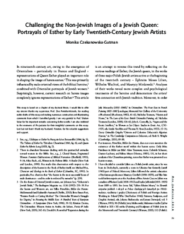 Challenging the Non-Jewish Images of a Jewish Queen: Portrayals of Esther by Early Twentieth-Century Jewish Artists