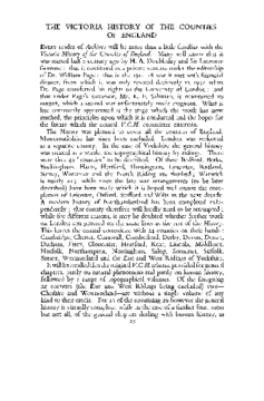THE VICTORIA HISTORY OF THE COUNTIES OF ENGLAND