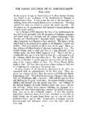 THE PARISH RECORDS OF ST. BARTHOLOMEW THE LESS
