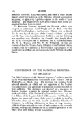 CONFERENCE OF THE NATIONAL REGISTER OF ARCHIVES