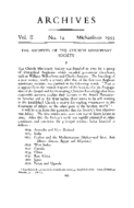THE ARCHIVES OF THE CHURCH MISSIONARY SOCIETY